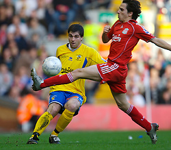 LIVERPOOL, ENGLAND - Saturday, January 26, 2008: Havant and Waterlooville's Jay Smith in action against Liverpool during the FA Cup 4th Round match at Anfield. (Photo by David Rawcliffe/Propaganda)