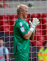 City Ground Nottingham Forest v Leeds United (1-1)  Championship 15/08/2010<br /> Kasper Schmeichel  (Leeds) <br /> Photo Roger Parker Fotosports International