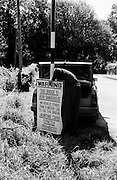 A sign is erected in Killarney, advising on the safety or otherwise of a bridge in the area.<br />