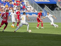 September 30, 2018 - Harrison, New Jersey, United States - Ezequiel Barco (8) of Atlanta United FC controls ball during regular MLS game against Red Bulls at Red Bull Arena Red Bulls won 2 - 0  (Credit Image: © Lev Radin/Pacific Press via ZUMA Wire)
