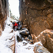 Emmitt on the first pitch of the Green Mile on Mount Webster