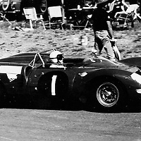 #1, Ferrari 365 P2, David Piper and Richard Attwood (finished 1st) at the Kyalami 9H at Johannesburg, South Africa, 1965