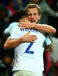 Harry Kane of England celebrates with Kyle Walker after scoring a goal to make it 1-0 - Mandatory by-line: Robbie Stephenson/JMP - 05/10/2017 - FOOTBALL - Wembley Stadium - London, United Kingdom - England v Slovenia - World Cup qualifier