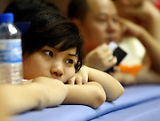 SPECTATOR DURING FIRST DAY COMPETITION IN THE HUANGPU ROLLER SKATING HALL AT THE SPECIAL OLYMPICS WORLD SUMMER GAMES SHANGHAI 2007..SPECIAL OLYMPICS IS AN INTERNATIONAL ORGANIZATION DEDICATED TO EMPOWERING INDIVIDUALS WITH INTELLECTUAL DISABILITIES..SHANGHAI , CHINA , OCTOBER 03, 2007.( PHOTO BY ADAM NURKIEWICZ / MEDIASPORT )..