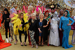 © Licensed to London News Pictures. 29/06/2016. Guests including  JENNIFER SAUNDERS, JOANNA LUMLEY, JAMNE HORRICKS, NADIA SAWALHA, KATE MOSS, EMMA BUNTON, DAISY LOWE, CARA DELEVINGE, KYLIE MINOGUE, ALISHA DIXON, JERRY HALL, JOURDAN DUNN,  LILY COLE, SUKI WATERHOUSE and LARA STONE attend the ABSOLUTELY FABULOUS world film premiere.<br /> London, UK. Photo credit: Ray Tang/LNP