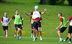 CARDIFF, WALES - Wednesday, September 4, 2013: Wales' Jack Collison during a training session at the Vale of Glamorgan ahead of the 2014 FIFA World Cup Brazil Qualifying Group A match against Macedonia. (Pic by David Rawcliffe/Propaganda)