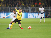 Marco Reus of Borussia Dortmund with the ball during  the Champions League round of 16, leg 2 of 2 match between Borussia Dortmund and Tottenham Hotspur at Signal Iduna Park, Dortmund, Germany on 5 March 2019.