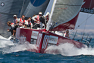 ITALY, Sardinia, Cagliari. 24th July 2011. AUDI MedCup. Region of Sardinia Trophy. TP52, Audi Sailing Team powered by ALL4ONE.