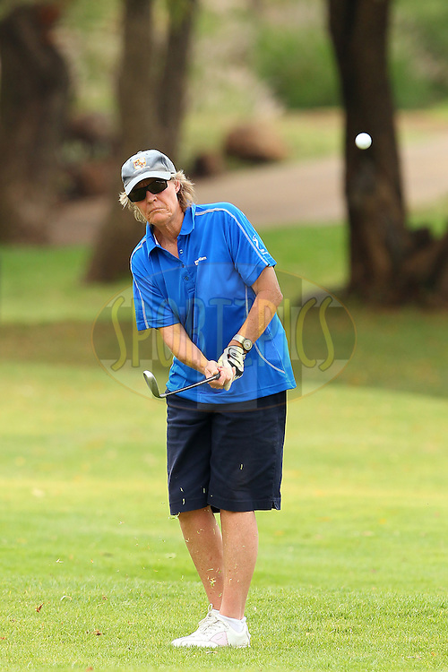 Perdita Newman during the first round of the Sanlam Cancer Challenge Finals held at Lost City Golf Course Club in Sun City near Johannesburg on the 21st October 2013<br /> <br /> Photo by Ron Gaunt - SPORTZPICS