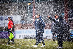 Motherwell's manager Ian Baraclough. <br /> Dundee 4 v 1 Motherwell, SPFL Premiership played 10/1/2015 at Dundee's home ground Dens Park.