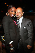 l to r: Estelle and Derek Dudley inside at the Afterparty for Common's Concert wth Maxwell at Madison Square Garden hosted by Common and held at Marquee on September 29, 2009 in New York City