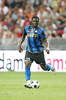 Fotball<br /> Italia<br /> Foto: Inside/Digitalsport<br /> NORWAY ONLY<br /> <br /> Muntari  Inter<br /> <br /> 09.08.2008<br /> Ajax v Inter