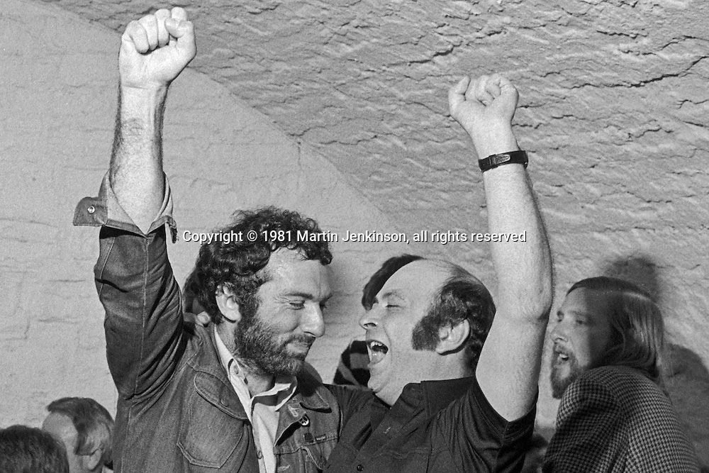Dave Foxton & Bill Innes. 1981 People's  March for Jobs. Northern College 06/05/1981.