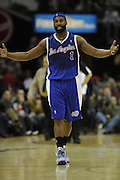 Jan 31, 2010; Cleveland, OH, USA; LA Clippers Baron Davis (1) reacts on the court during the first second quarter against the Cleveland Cavaliers at Quicken Loans Arena. Mandatory Credit: Jason Miller-US PRESSWIRE