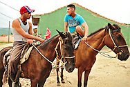The horsemen that everyday that the tourists on rides to the scenic spots on the hills around Trinidad