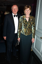 ANDREW & ROSEMARY PARKER BOWLES at the 2004 Cartier Racing Awards in association with the Daily Telegraph, held at the Four Seasons Hotel, London on 17th November 2004.<br />