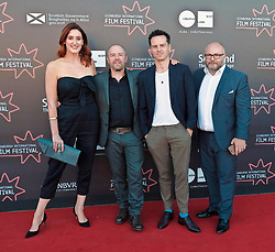 Edinburgh International Film Festival, Saturday, 24 June 2018<br /> <br /> STEEL COUNTRY (WORLD PREMIERE)<br /> <br /> Pictured:  Bronagh Waugh, director Simon Fellows, Andrew Scott and producer Gareth Unwin<br /> <br /> <br /> (c) Alex Todd | Edinburgh Elite media