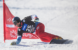 Fluetsch Kaspar during the men's Snowboard giant slalom of the FIS Snowboard World Cup 2017/18 in Rogla, Slovenia, on January 21, 2018. Photo by Urban Meglic / Sportida
