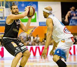 17.05.2015, Walfersamhalle, Kapfenberg, AUT, ABL, ece Bulls Kapfenberg vs magnofit Guessing Knights, 3. Semifinale, im Bild Todorov Kostov Chavdar (Guessing) Shawn Ray (Kapfenberg) // during the Austrian Basketball League, 3th semifinal, between ece Bulls Kapfenberg and magnofit Guessing Knights at the Sportscenter Walfersam, Kapfenberg, Austria o00000n 2015/05/17, EXPA Pictures © 2015, PhotoCredit: EXPA/ Dominik Angerer