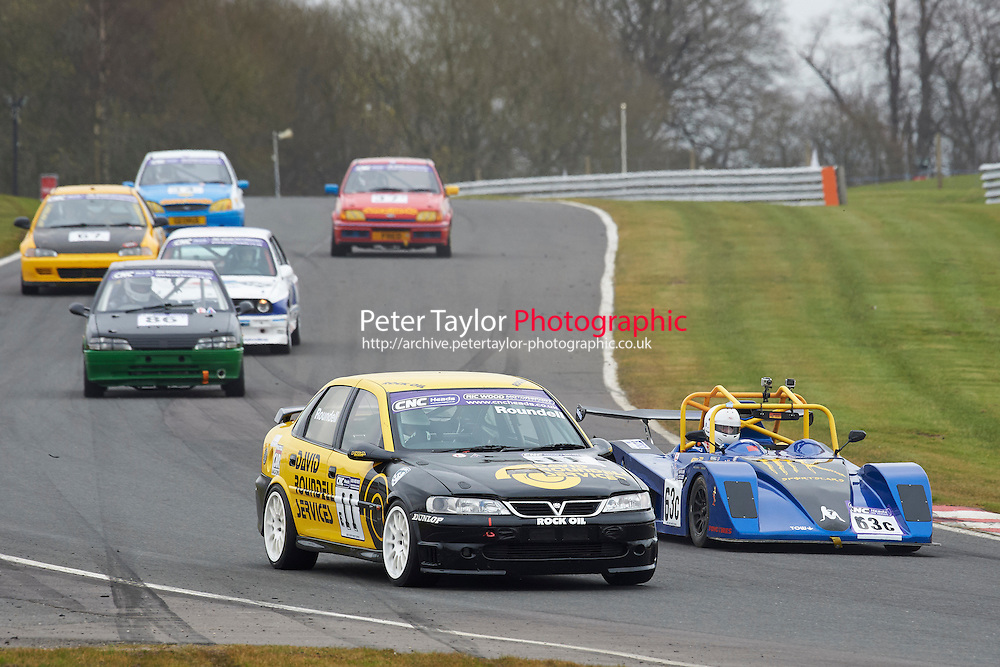 #11 Richard ROUNDELL Vauxhall Vectra 2498 during CNC Heads Sports / Saloon Championship as part of the BARC NW - Championship Raceday  at Oulton Park, Little Budworth, Cheshire, United Kingdom. March 19 2016. World Copyright Peter Taylor/PSP. Copy of publication required for printed pictures.  Every used picture is fee-liable. http://archive.petertaylor-photographic.co.uk