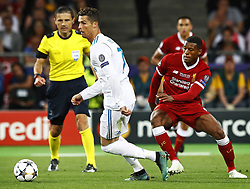 Cristiano Ronaldo of Real Madrid CF , Giorginio Wijnaldum of Liverpool FC during the UEFA Champions League final between Real Madrid and Liverpool on May 26, 2018 at NSC Olimpiyskiy Stadium in Kyiv, Ukraine