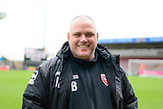 Morecambe Manager Jim Bentley during the Sky Bet League 2 match between Northampton Town and Morecambe at Sixfields Stadium, Northampton, England on 23 January 2016. Photo by Dennis Goodwin.