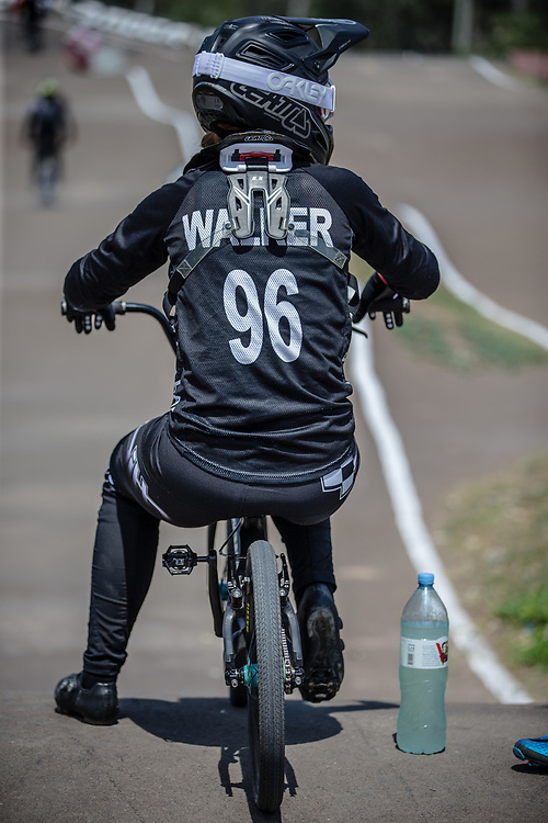 #96 (WALKER Sarah) NZL during practice at round 1 of the 2018 UCI BMX Supercross World Cup in Santiago del Estero, Argentina.