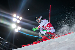 23.01.2018, Planai, Schladming, AUT, FIS Weltcup Ski Alpin, Schladming, Slalom, Herren, 1. Lauf, im Bild #NAMESG# // #NAMESE# in action during his 1st run of men's Slalom of FIS ski alpine world cup at the Planai in Schladming, Austria on #DATE#. EXPA Pictures © 2018, PhotoCredit: #AGENTUR#/ #FOTOGRAPH#<br /> <br /> *****ATTENTION - #RESTRICTION#*****