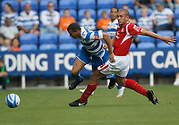 Photo: Steve Bond/Richard Lane Photography. Reading v Nottingham Forest. Coca Cola Championship. 08/08/2009. Joel Lynch fouls Liam Rosenior