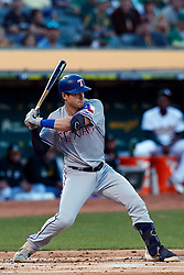 OAKLAND, CA - SEPTEMBER 21:  Nick Solak #15 of the Texas Rangers at bat against the Oakland Athletics during the first inning at the RingCentral Coliseum on September 21, 2019 in Oakland, California. The Oakland Athletics defeated the Texas Rangers 12-3. (Photo by Jason O. Watson/Getty Images) *** Local Caption *** Nick Solak
