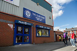 Rochdale club shop, Spotland Stadium - Photo mandatory by-line: Dougie Allward/JMP - Mobile: 07966 386802 23/08/2014 - SPORT - FOOTBALL - Manchester - Spotland Stadium - Rochdale AFC v Bristol City - Sky Bet League One