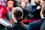 28-1-2014 - HAMBURG - The visit of  swedish princess Victoria and Prince Daniel during their 2 days economic trip to Germany. COPYRIGHT ROBIN UTRECHT