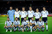Scotland players line up for a team photo prior to their friendly match against Japan in Yokohama, Japan on Saturday 10 Oct. 2009. Japan won 2-0..Photographer: Robert Gilhooly