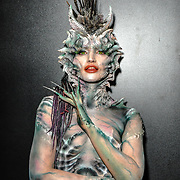Mouldlife Stand #117 by Artist Vincent De Monfreid demo at IMATS London on 18 May 2019,  London, UK.