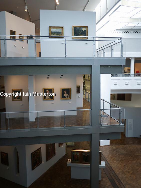 Interior of Museum für Kunst und Kulturgeschichte or Museum of Art and Cultural History in Dortmund Germany