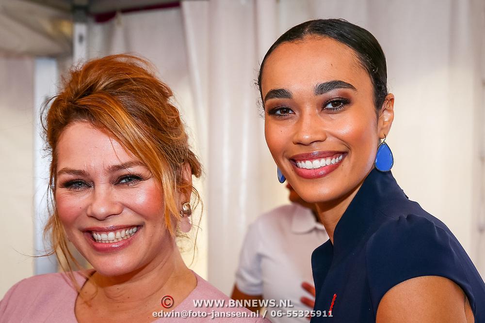 NLD/Amsterdam/20180616 - 26ste AmsterdamDiner 2018, Antje Monteiro en dochter