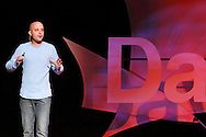 Justin Bayer speaks during TEDx Dayton at the Victoria Theatre in downtown Dayton, Friday, November 15, 2013.  TEDx Dayton is a localized version, and uses a format similar to national TED (Technology, Entertainment, Design) events.
