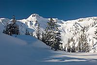 Table Mountain in winter, Heather Meadows Recreation Area North Cascades Washington USA
