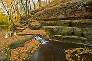 Just outside of Baraboo, Wisconsin, Skillet Creek carves a deep gorge. This is the first of several waterfalls in an area known as Pewit's Nest.