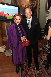 A party to promote the exclusive Puntacana Resort & Club - the Caribbean's Premier Golf & Beach Resort Destination, was held at Spencer House, London on 13th May 2010.<br /> <br /> Picture shows:- CHRYSANTHY LEMOS and OSCAR DE LA RENTA