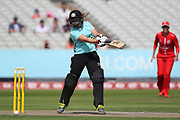 Bryony Smith of the Surrey Stars during the Women's Cricket Super League match between Lancashire Thunder and Surrey Stars at the Emirates, Old Trafford, Manchester, United Kingdom on 7 August 2018.