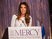 Kristen Nicole, anchor at Fox 32 Chicago emceed the program for Mercy Hospital & Medical Center's 51st Dinner Dance Gala took place at the Hilton Chicago on September 28, 2018. Dr. Robert M. Gasior and Honorable Patrick Huels were honored at the event. Proceeds will benefit Cardiovascular Services including screening, intervention, rehabilitation, wellness and prevention programs for patients and families. (Photo:Natalie Battaglia)
