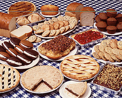 dessert buffet pastry bakery bread cake pie sticky buns apple dumplings holiday party family style cup brownies shoo fly pie