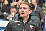 Bolton Wanderers Manager, Phil Parkinson during the The FA Cup 3rd round match between Bolton Wanderers and Crystal Palace at the Macron Stadium, Bolton, England on 7 January 2017. Photo by Mark Pollitt.