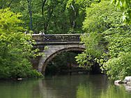 Balcony Bridge at the Lake in Central Park