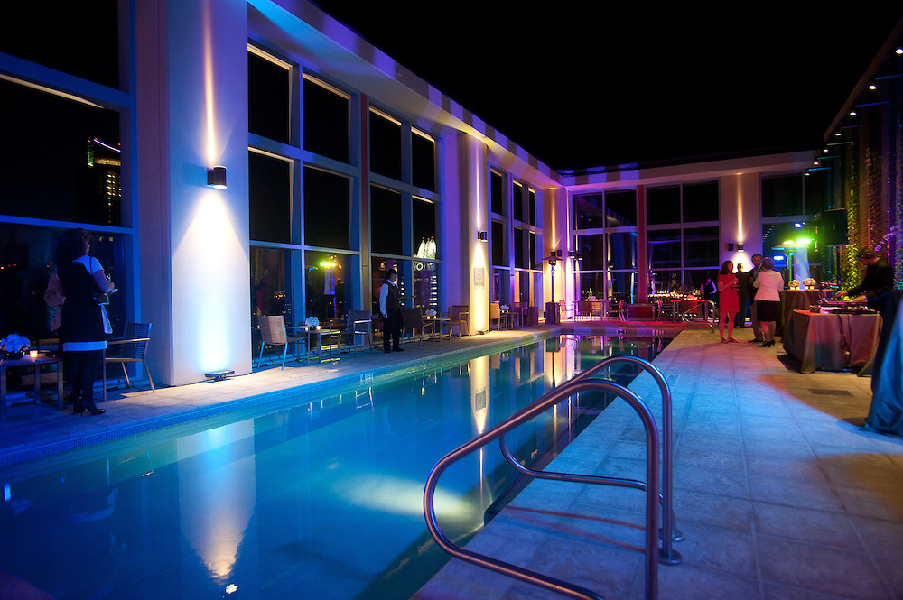 The Four Seasons Residences Austin hosted a party Friday night for current, future and prospective residents. Guest were able to tour the facility and see amenities such as the pool, which is located on the thirty-second floor.