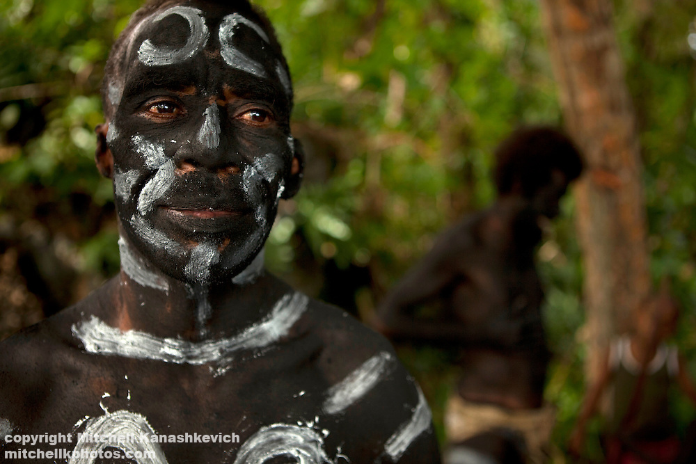 The snake dance is a traditional dance which takes place on special occations for the inhabitabts of Rah Lava Island. These days it is often performed for the visiting tourists. Rah Lava Island, Torba Province, Vanuatu