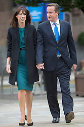 David Cameron Keynote Speech. <br /> Prime Minister David Cameron and his wife Samantha Cameron arriving before his speech keynote speech to the Conservative Party Conference, Manchester, United Kingdom. Wednesday, 2nd October 2013. Picture by i-Images