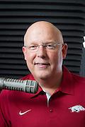 Arkansas Razorback sports announcer Chuck Barrett.for Arkansas Life Magazine