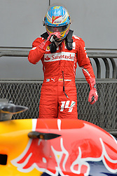 19.04.2014, International Circuit, Shanghai, CHN, FIA, Formel 1, Grand Prix von China, Qualifying Tag, im Bild Fernando Alonso (ESP) Ferrari in parc ferme. // during the Qualifyingday of Chinese Formula One Grand Prix at the International Circuit in Shanghai, China on 2014/04/19. EXPA Pictures © 2014, PhotoCredit: EXPA/ Sutton Images<br /> <br /> *****ATTENTION - for AUT, SLO, CRO, SRB, BIH, MAZ only*****